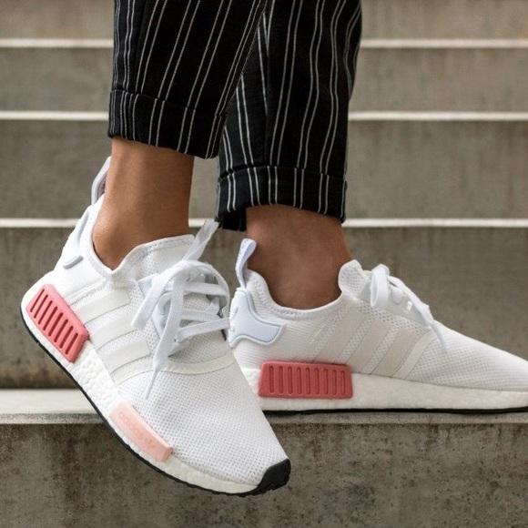 Adidas Shoes Nib Nmd R1 By9952 White Pink Rose Poshmark